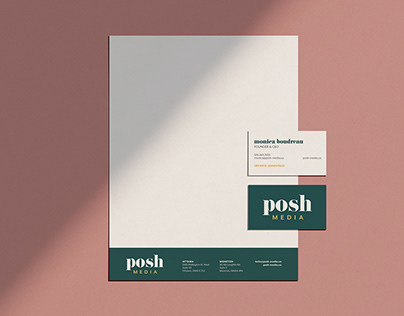 Posh Media branding & graphic design
