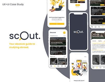 Scout-Guide to Studying Abroad | UX/UI study