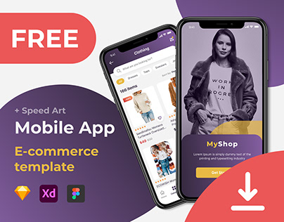 Free Mobile App\E-commerce template\Figma\UI\Store\Shop