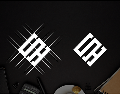 Letter S H logo design