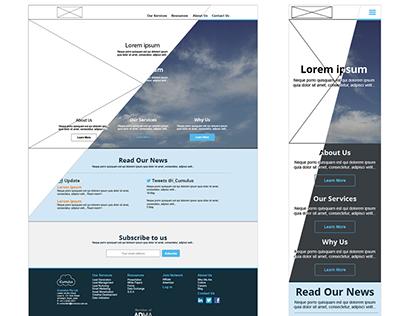iCumulus company website redesign