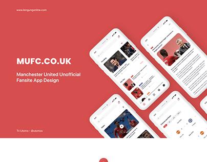 Soccer Fansite App Design
