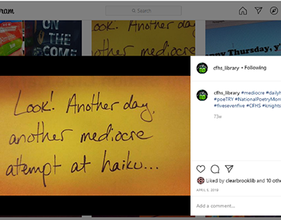 Daily Haiku National Poetry Month 2019 - CFHS Instagram