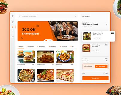 Online 🍲Food Ordering Website Dashboard