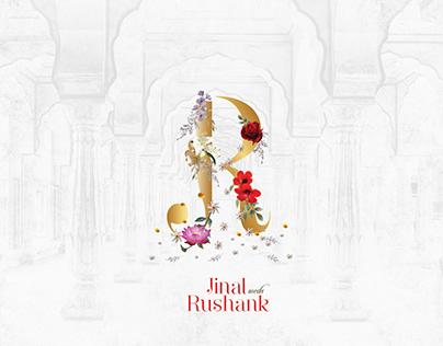 Luxury Wedding Invitation, based on Radha-Krishna Theme