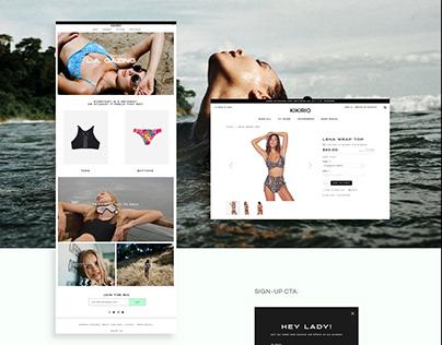 Kikirio - Swim - Web Design
