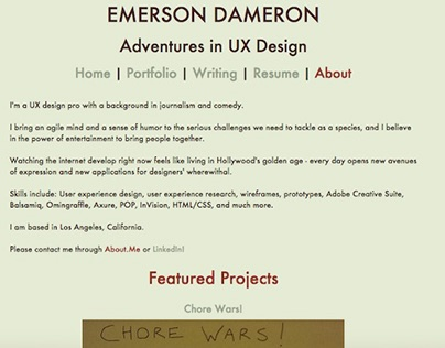 Emerson Dameron: A Man, a Plan, a Brand, a Website