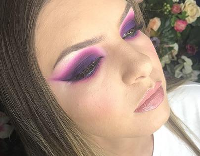 Purple smokey All matte Makeup & Styling