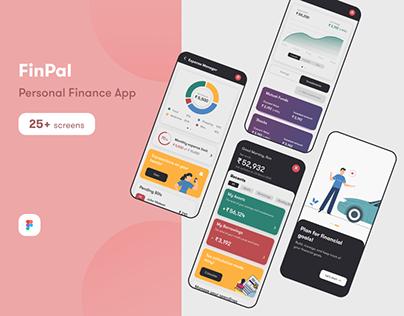 FinPal - Personal Finance Mobile App UI/UX