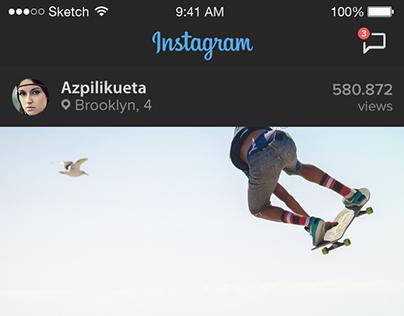 Instagram App UI  Re-design