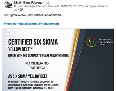 International Six Sigma Institute Student Success Story
