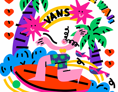 Illustration for VANS art contest in China