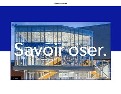 Website redesign - DMA architectes