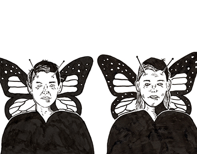 The butterflies (based on Charles Burns)