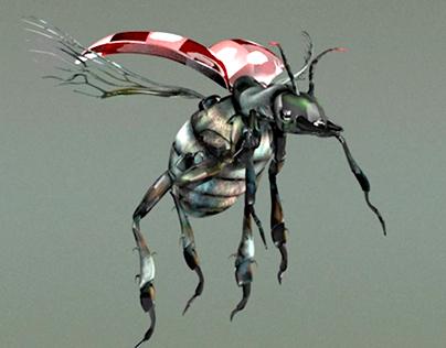 Design, Modeling, Texture: Beetle Monster