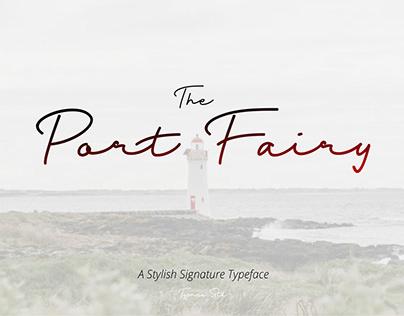 Free Port Fairy Signature Font