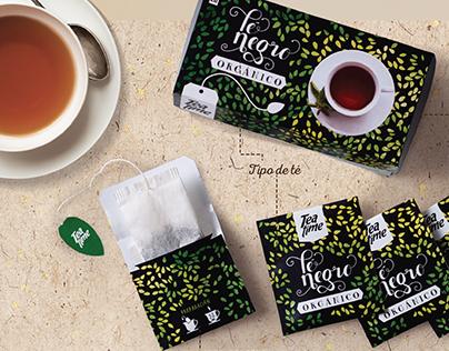 Packaging / Té negro orgánico. Tea Time