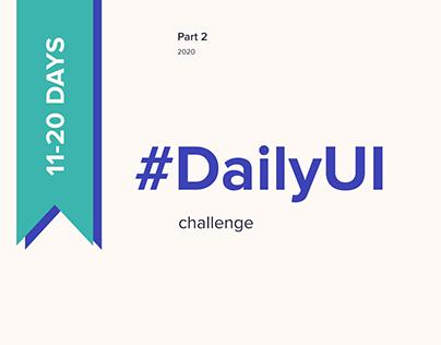 DESIGN | Daily UI Challenge (Part 2)