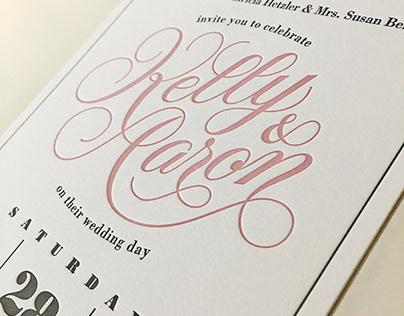 The Greene's Wedding stationery