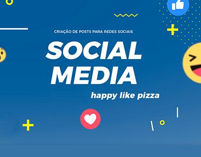 Happy Like Pizza   Social Media