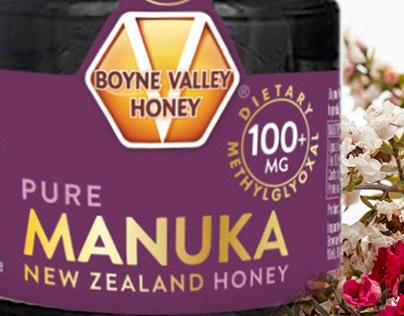 Boyne Valley Manuka Honey Brand and Packaging Design