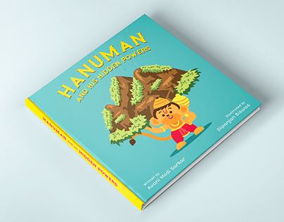 Children's Book Illustration - Baby Hanuman