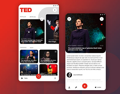 TED Mobile UI