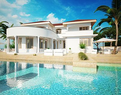 Villa project in Africa I 3D visualizations
