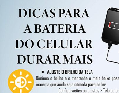 Infográfico - Dicas para a bateria do celular