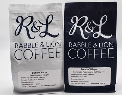 Rabble & Lion Coffee Logo and Packaging