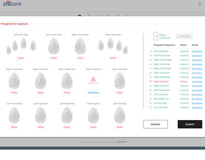 Fingerprint Capturing System for Banking