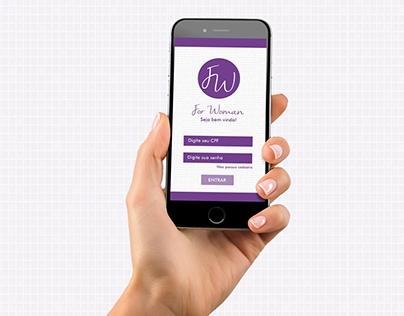 Aplicativo For Woman p/ Celular - Projeto Acadêmico