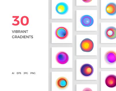 30 Vibrant Gradients