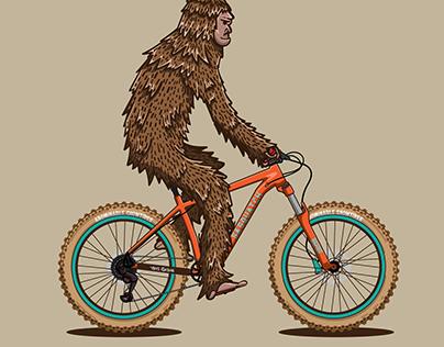 Bigfoot on a bike