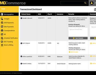 MD Commerce UI Dashboard
