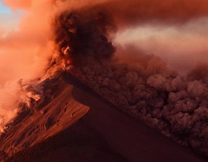 Fire Volcano Eruption 🌋📸😱