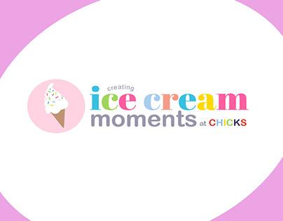 Ice Cream Moments Logo - Sub-branding