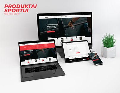 """""""Produktai sportui"""" puslapio dizainas"""