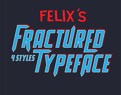 FRACTURED - Free Font