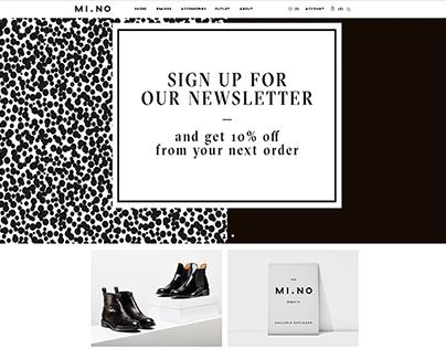 MI.NO Shoes eCommerce