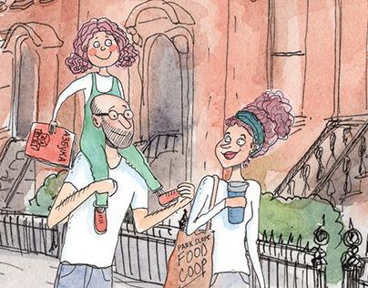 Illustrations for Family Program in Brooklyn