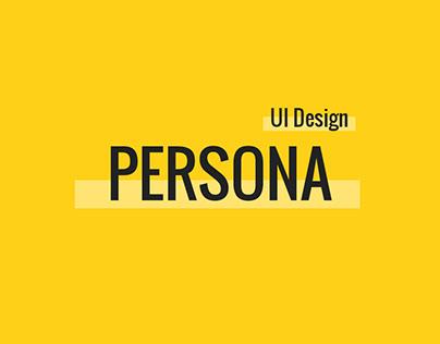 Persona   Personal Website UI