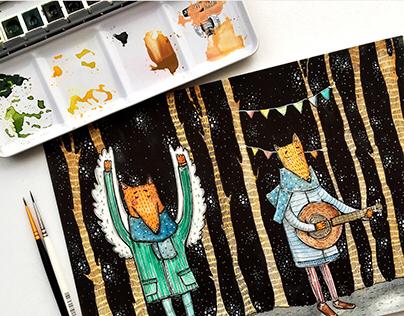 Night Tales illustration.
