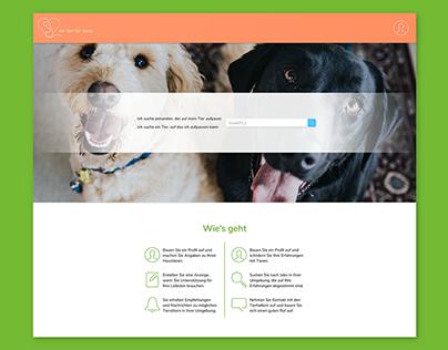 """Animal Sharing Platform """"Ein Tier für zwei"""""""