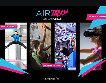 Landing Page Airtrix Ultimate Fun Park