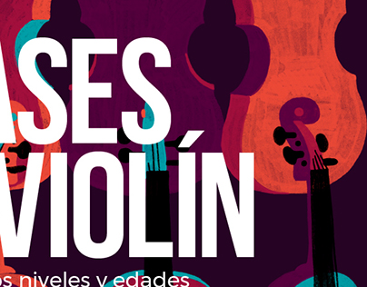 Cartel. Clases de violín.