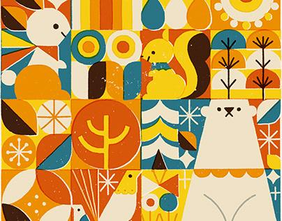 Lesní zvířata(Animals in the Forest)