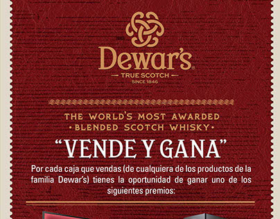 Dewar's RD promoción vendedores mayoristas y minoristas