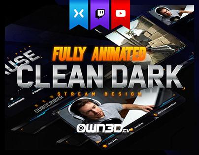 Animated Modern Clean Dark Stream Design