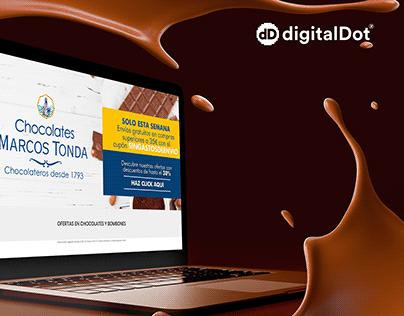 Desarrollo-diseño tienda online Chocolates Marcos Tonda